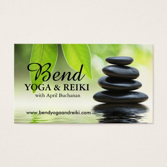 Customisable Reiki Business Cards