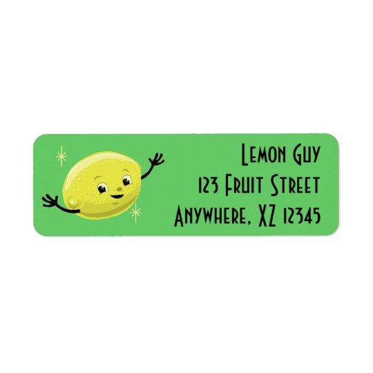 Customisable Retro Lemon Guy