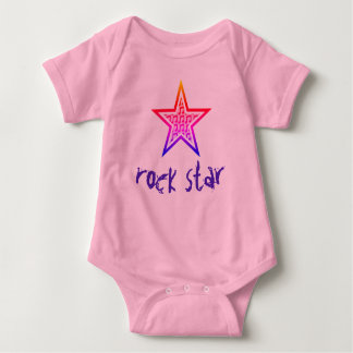 "Customisable ""Rock Star"" Baby Bodysuit"