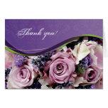 Customisable rose & lavender greeting card
