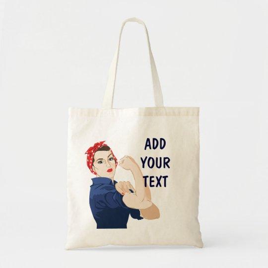 Customisable Rosie Riveter Tote Bag