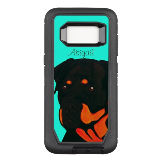 Customisable Rottweiler OtterBox Defender Samsung Galaxy S8 Case