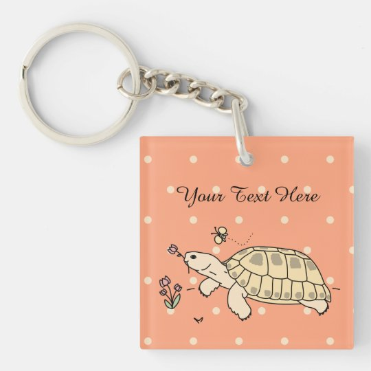 Customisable Russian Tortoise Keychain (2 sided)