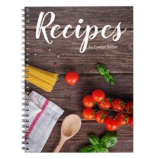Customisable rustic recipe notebook