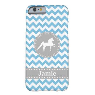 Customisable Saddlebred Blue Chevron iPhone 6 case