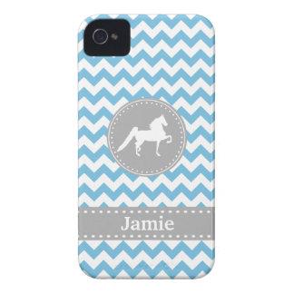 Customisable Saddlebred Blue iPhone 4/4S Case