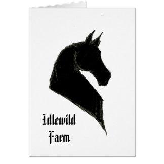 Customisable Saddlebred Note Card