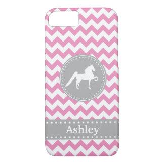 Customisable Saddlebred Pink Chevron iPhone 7 case