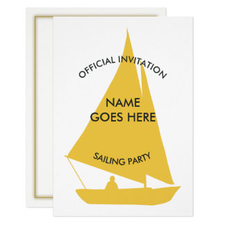 Customisable Sailing Party Invitation