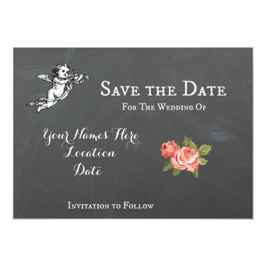 Customisable Save The Date 5x7 inch postcard
