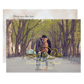 Customisable Save the Date card