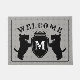 Customisable Scottish Terrier Doormat