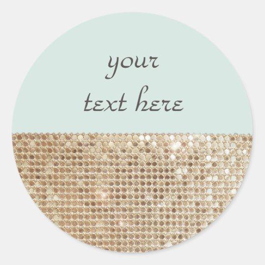 Customisable Shimmering Gold Sequins Sticker