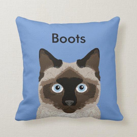 Customisable Siamese Cat Pillow - Cute Cat Pillow