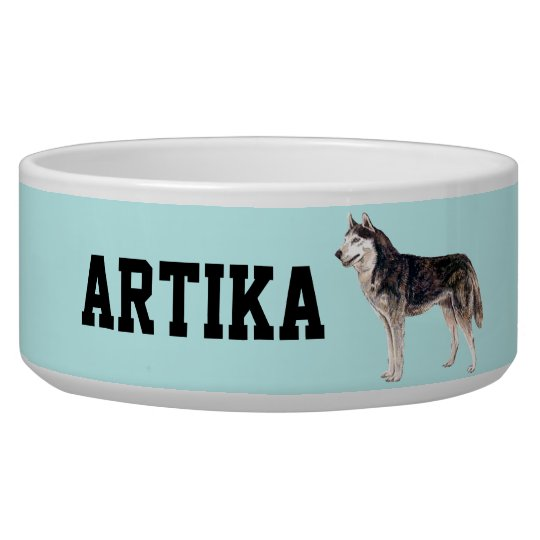 Customisable Siberian Husky Dog Bowl