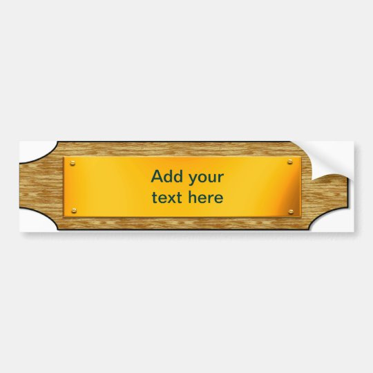 Customisable Sign - Wood / Gold Metal Plaque