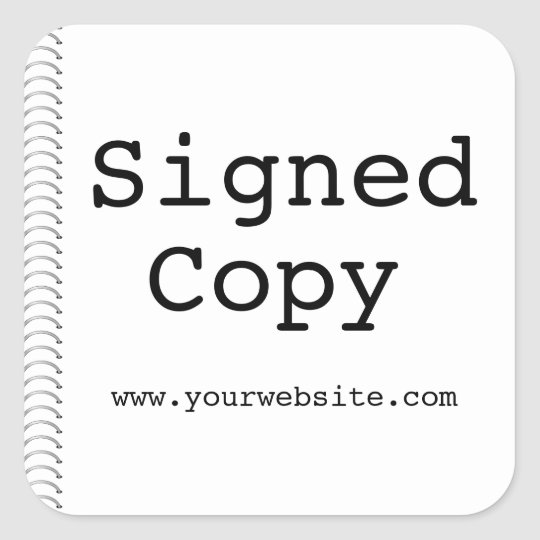 Customisable Signed Copy Author Stickers for Books