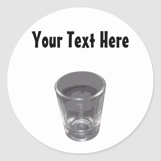 Customisable Silver Shot Glass Sticker