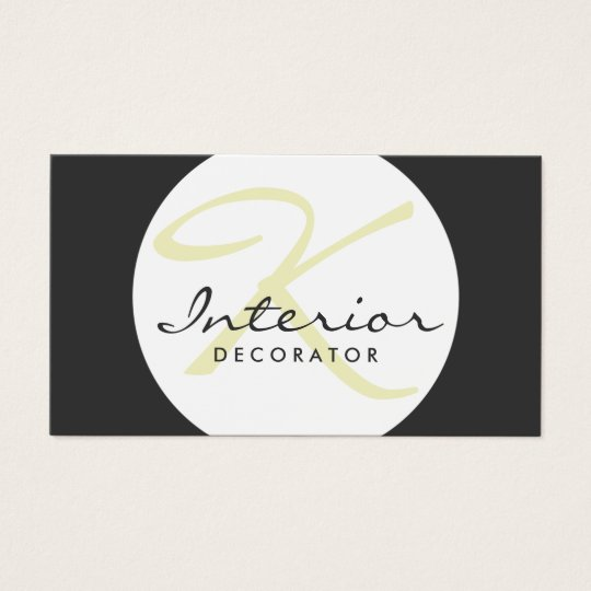 Customisable Simple Ball Interior Decorator Card