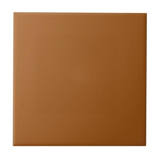 Customisable Simple Tan Brown Ceramic Tile