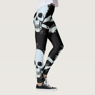 customisable skull leggings