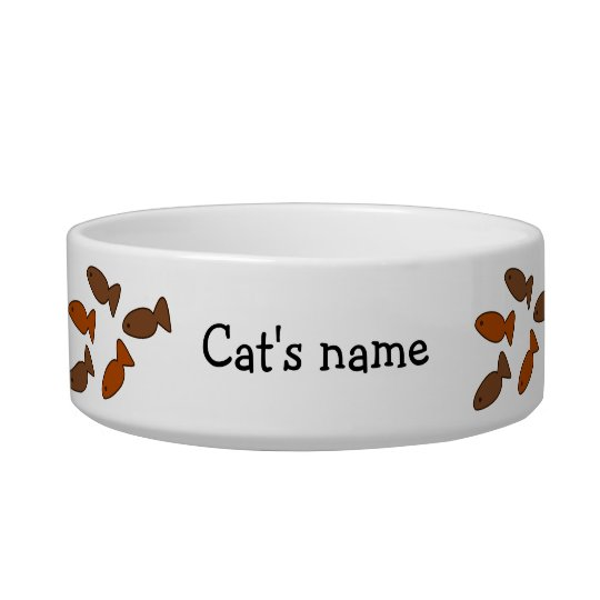 Customisable Slogan Cat Biscuit Treats Bowl