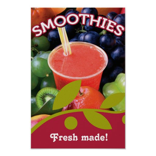 Customisable Smoothie Poster Design