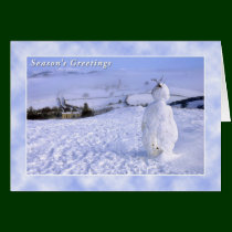 Customisable Snowman Christmas Card