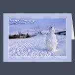 Customisable Snowman Christmas Card
