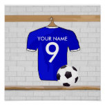 Customisable Soccer Shirt (blue) Poster