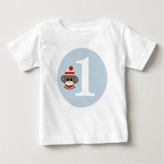 Customisable Sock Monkey birthday shirt