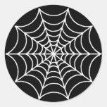 Customisable Spider Web Round Sticker