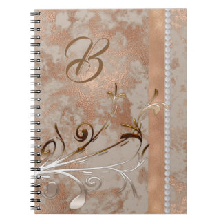 Customisable Spiral Notebook faux Rose Gold design