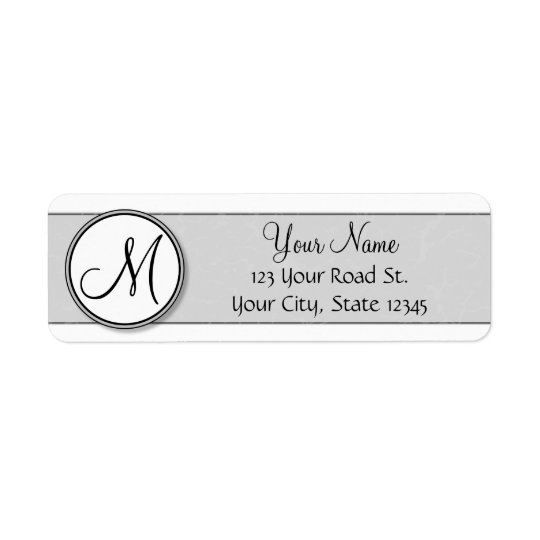 Customisable Split Monogram Seal Template