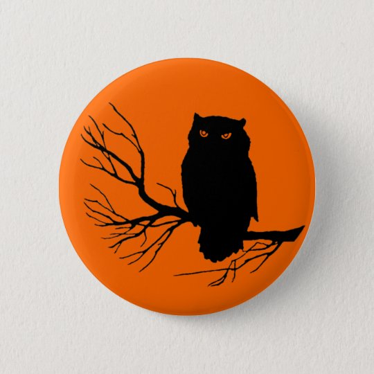 Customisable Spooky Owl 6 Cm Round Badge