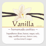 Customisable Square Vanilla Stickers