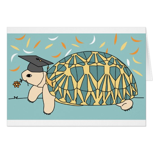 Customisable Star Tortoise Graduation Card 2