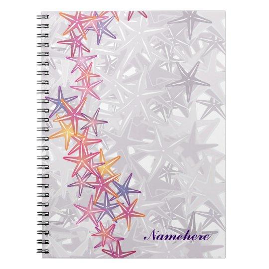 Customisable: Starfish Spiral Notebook