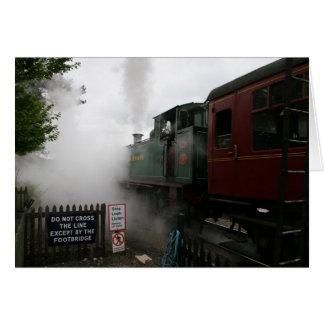 Customisable Steam Train Card