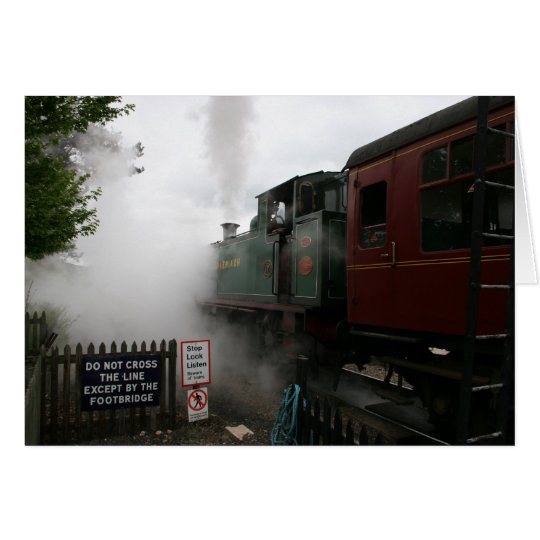 Customisable Steam Train Card
