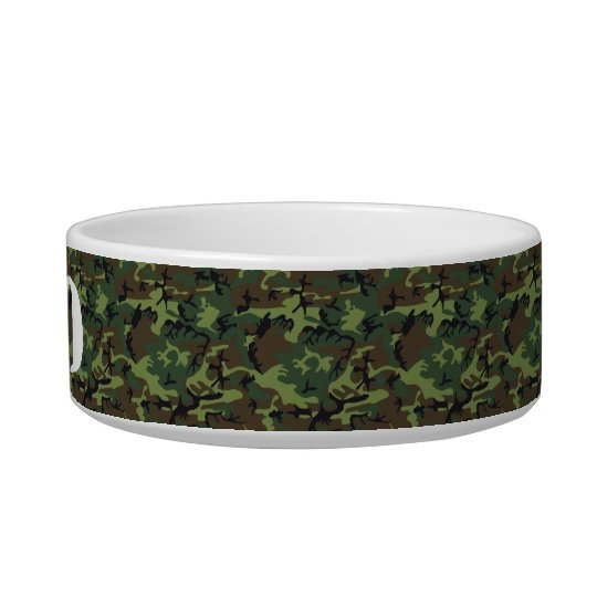 Customisable Stencil Name on Camouflage Pattern Bowl