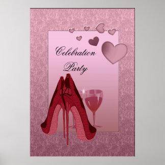 Customisable Stiletto Celebration Party Poster