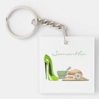 Customisable Stiletto Shoe Art Keychain