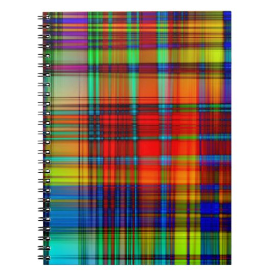 Customisable Stylish Colourful Abstract Designs Spiral Notebook