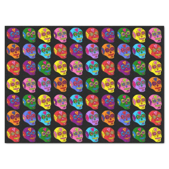 Customisable Sugar Skulls Tissue Paper
