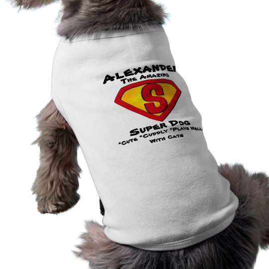 Customisable Super Dog T-Shirt Pet Clothing