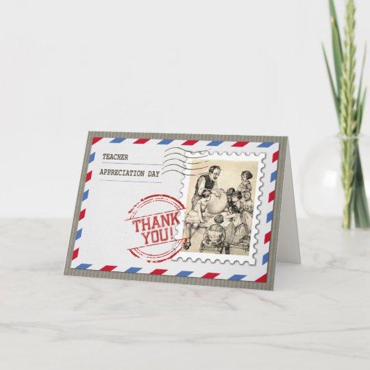 customisable teacher appreciation day cards zazzle co uk