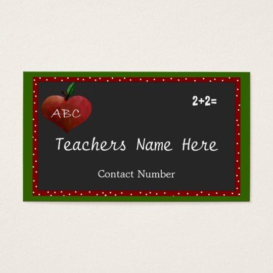 Customisable Teachers Business Card