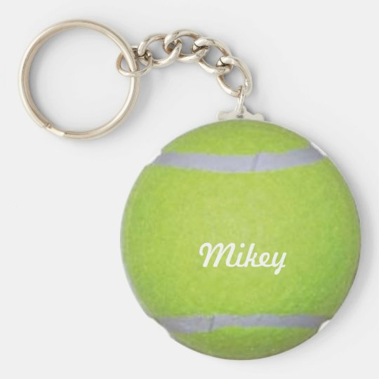 Customisable Tennis Ball Basic Round Button Key Ring