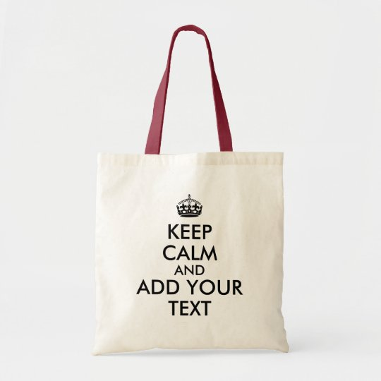 Customisable Text Keep Calm Shopping Bags Template